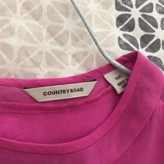 Country Road silk shirt 👚