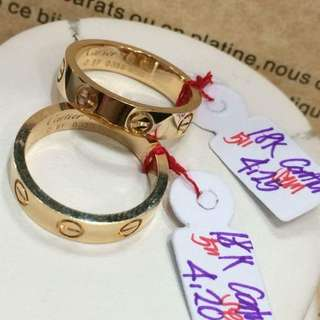 Authentic Cartier Wedding Ring with certificate