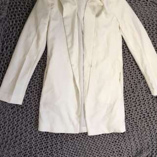 White long blazer coat