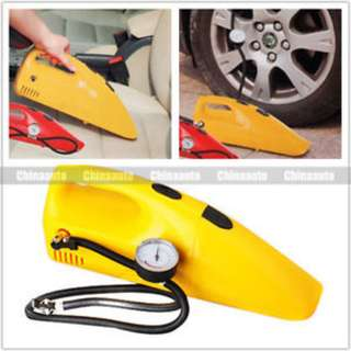 2 in 1 The Inflator With Vacuum Cleaner DC 12V 250 PSI Air Compressor