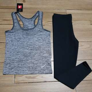High Quality Terno Drifit sleeveless & Spandex Cotton legging long
