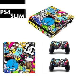 Ps4 Slim Skin sticker bomb