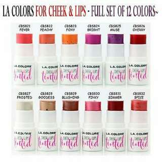 LA Colors Cheek and Lip Tinted BULK