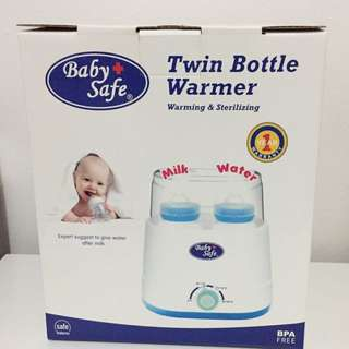 Babysafe twin bottle warmer