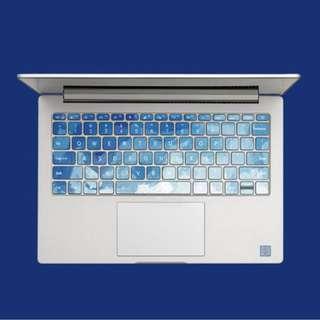 Abstract Light Sky Blue Brush Stroke Macbook Keyboard Vinyl Decal
