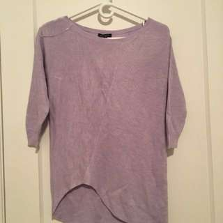 Lilac Asymmetrical Pullover