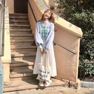 日系寬鬆蕾絲拼接洋裝