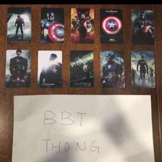 Captain America Card stickers