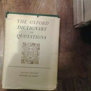 Oxford Dictionary For Quotations