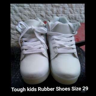 Tough Kids Rubber Shoes White