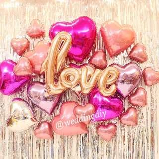 💗 LOVE Balloon bundle Wedding Decoration #budgetwedding #budgetbride