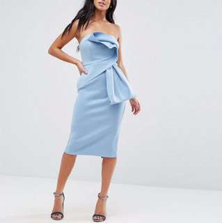 ASOS Petite Women's Dress Baby Blue Size 8