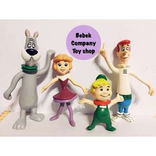 1992 the jetsons 傑森一家 卡通頻道 Cartoon Network 可彎 鐵線玩偶 公仔 絕版二手玩具