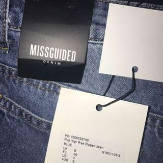Missguided high wasted ripped jeans
