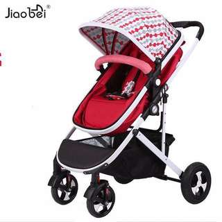 Red**ready stock highview stroller-facing parents
