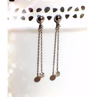 18K吊墜式鑽石耳環(共0.14ct)
