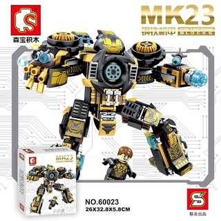 SY 60023 MK23 Iron Man 2in1 Mech