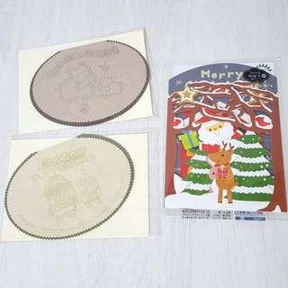 卡片賀卡節慶卡耶誕卡聖誕節 聖誕樹聖誕老人可愛merry xmas立體卡片diy #十一月免購物直接送 #你喜歡我送你