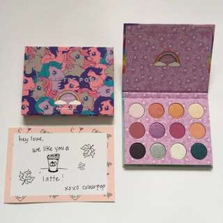 Brand New COLOURPOP - My Little Pony Eyeshadow Palette - Pressed Powder Shadow - 💯% Authentic