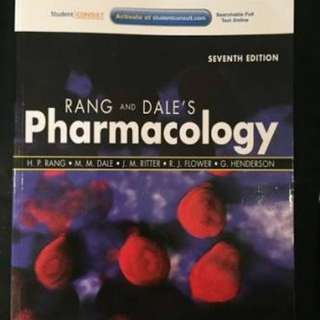 Rang and Dale's Pharmacology 7th ed. textbook