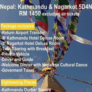 Nepal : Kathmandu & Nagarkot 5D4N