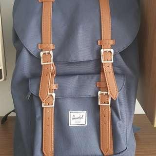 Herschel Little America Backpack in Navy/Tan