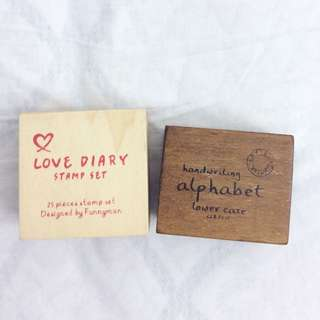 Alphabet and diary stamps