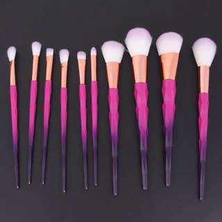 10pcs Gradient Purple Makeup Brushes (instock)