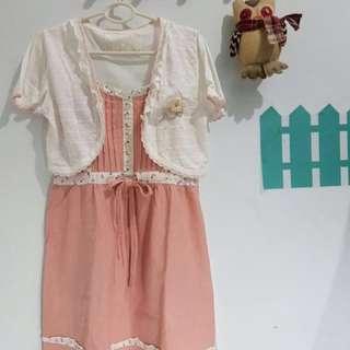 bolero pink dress