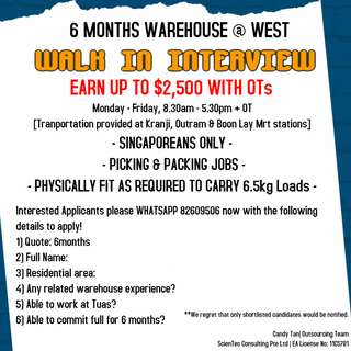 WAREHOUSE 6 MONTHS CONTRACT || AIRCON || GLOBAL COMPANY