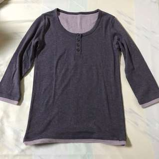 Marks and Spencer's Three fourths sleeves top (pajama top)