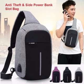 Anti Theft With Power Bank Slot Bag