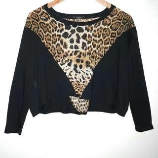 Cheetah  Crop Longsleeves
