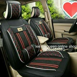 Universal Seat Cover Black and Red