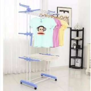 3 Layers clothes storage hanger organizer drying rack