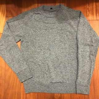 無印良品 MUJI 羊毛 毛衣 日本 棕色 雪花 混織 冬裝 男裝 女裝 保暖 英倫