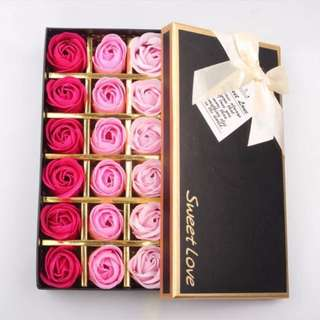 BN Rose Soap (18 pcs) Gift Set (3 Colors)