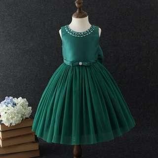 fb69f1efe0a Amelia Green Party Dress  Formal Dress  Birthday Dress  Fancy Dress   Wedding Dress  Flower Girl Dress  Frocks  Tutu  Hamper  Baby Shower  Gift   Present  for ...