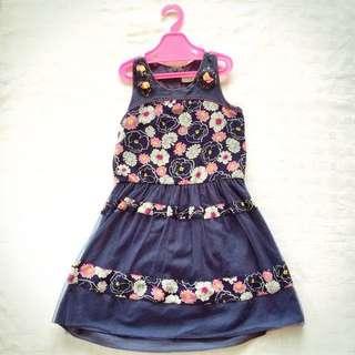 Miss Cupcake Navy Blue Flower Dress