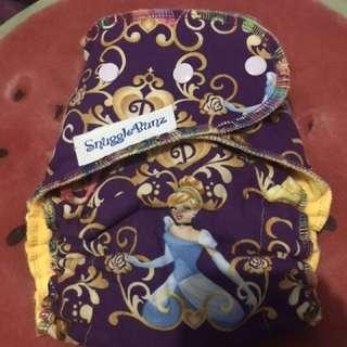 Princesses Hybrid fitted cloth diaper by Snugglebunz