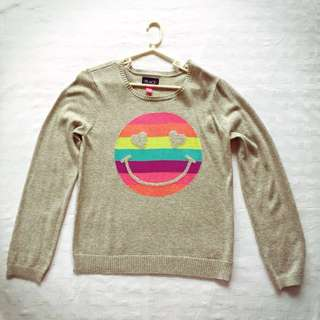 BNWOT The Children's Place Gray Rainbow Smiley