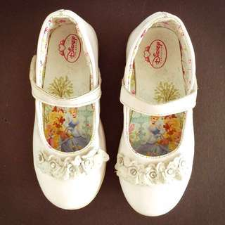 Disney Princess White Flowerette Mary Jane Shoes Kids Size 10