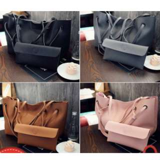 Curvy 2 in 1 MFS KOREA Large Tote Shoulder Bag Handbag Shoulder Beg Bags Women