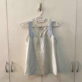 Authentic Plain and Prints Sleeveless, silver lining