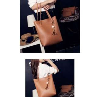 3 in 1 Casual Tassel Shoulder Bag