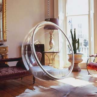 Balcony outdoor hanging bubble chair