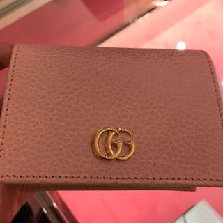 Gucci GG Card Case Coins Small Wallet Pink 歐洲代購 荔枝皮 禮物
