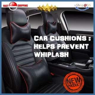 ★[NEW] SALE★ SET OF 4 STYLISH CAR CUSHIONS : HELPS PREVENT WHIPLASH/STIFF BACK/NECK. PROVIDES COMFORT.