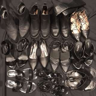 BULK LOT Women's Boots, Sandals, Flat, Heels- Black