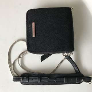 Charles and Keith fur sling purse